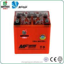 Chongqing Motorcycle Parts Dry Cell 12v 3ah AGM Battery for YB3L-BS