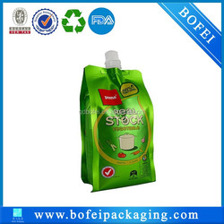 Plastic packaging & platic bag &plastic stand up pouch with spout