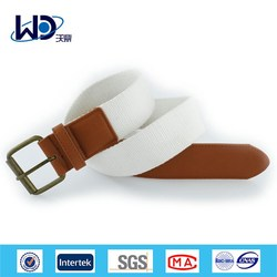 Simple White Stretch Belt Outdoor Belt