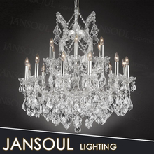 antique innovative hot selling large custom made butterfly crystal drop chandelier pendant lamp