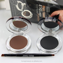 Music Flower Water-Soluble Eyeliner Powder Black & Brown with Double-ended Eyelining Brush