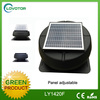 No electricity power roof ventilation fan with high efficiency solar panel