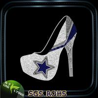 Cowboys high heeled shoes rhinestone transfer