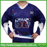 Custom Sublimation Printing Ice Hockey Shirts for Ice Hockey Sports