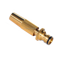 high pressure garden hose nozzle, brass adjustable hose nozzle