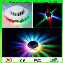 Popular Mini Round Shape Flash Laser Light 48pcs LEDs Auto Rotating With Vioce-Activated LED RGB Sunflower Stage Light For Sale