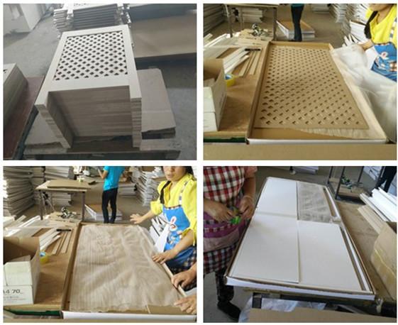 MDF 조절 라디에이터 캐비닛, 홈 장식 흰색 라디에이터 커버-기타 ...