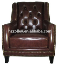 Luxury Restaurant Leather Living Room Sofa Hotel Club Arm Chair