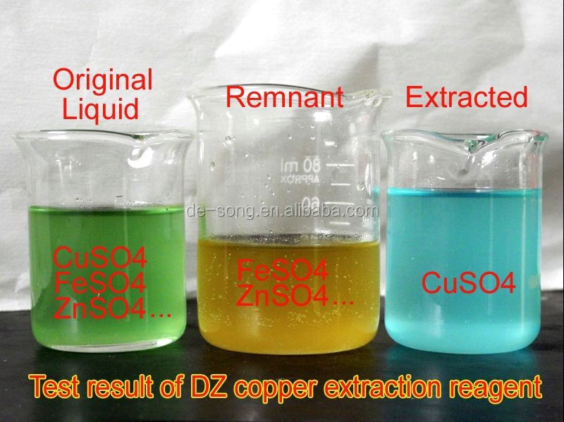 Copper mining extract reagent chemical copper extract reagent