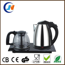 1.8L Electric tea kettle tray set,hotel kettle tray set