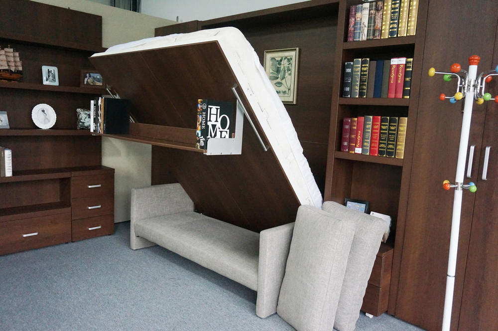 Murphy wall bed Sofa murphy bed with Bookshelf   Sofa Wall bed  View