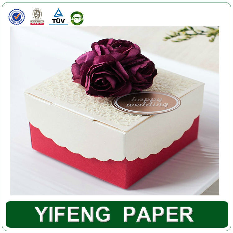 Birthday Cake Cardboard Packing Box With Handle Printing ...