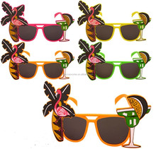 Flamingo cocktall hawallan party sunglasses/crazy party beach sunglasses