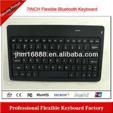 7 Inch silicone flexible bluetooth keyboard for ipad 3 case