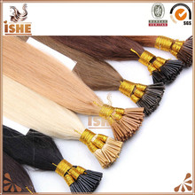Wholesale price prebonded hair extension, I tip hair extension,stick tip fusion hair extension
