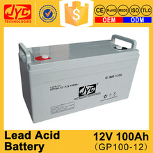 ISO CE ROHS TLC Certificate good quality 12v 100ah lead acid battery