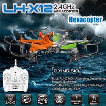Shantou juguetes LH-X12 2.4 ghz 6-axis 4ch rc drone aerodeslizador