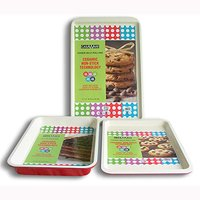 3pc Bakeware Set with Cake Pan: Red 43 45 48cm