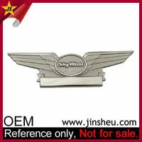 Wholesale Custom Made Silver Souvenir Rotary Aviation Badges