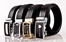 100% Cowhide Genuine Leather Belts for Men Classic Pin Buckle Belts Strap
