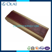 2014 hot-sale fancy decorative paper pen box with Pu leather for sale