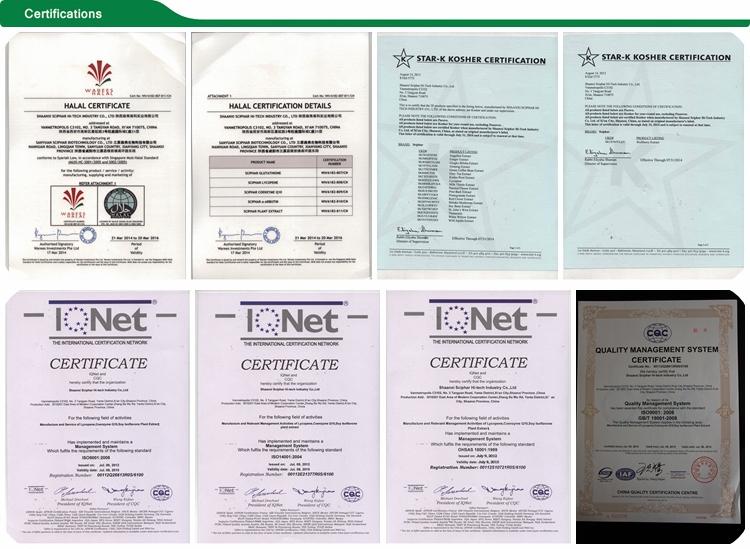 Fda зарегистрирован производитель цена 8% Triterpene гликозиды черный Cohosh экстракт корня