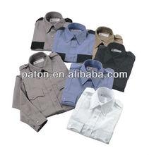 Los guardias de seguridad uniforme de telas personalizadas, guangzhou china precio de fábrica del oem