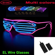 Light up el glasses/El wire sunglasses/Led glasses with 2AA inverter