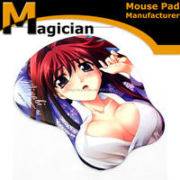breast girls mouse pad, sexy photo insert mouse pad