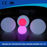 Plastic garden decoration lighting led ball decor with low price