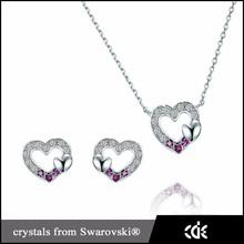 bomboniere argento 925 collana e orecchini set di gioielli da sposa
