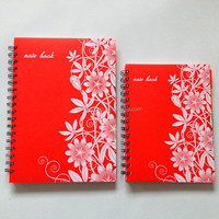 Promotional school supplies PP spiral binding notebooks plastic cover spiral notebook