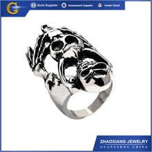 RR0089 fashion jewelry 316l stainless steel latest male skull ring