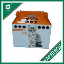 CUSTOMIZED PAPER MADE PORTABLE DOG CARRIER,CARDBOARD CAT CARRIER,CORRUGATED CAT CARRYING BOX