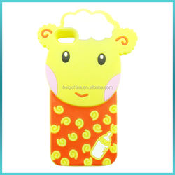 Amazing promotional fashion colorful cute 3d embossed animal silicone phone case for iphone/samsung/ipad/htc