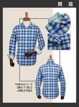 James 32s one side brushed cotton yarn dyed heavy twill check fabric