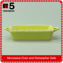 durable hotel catering ceramic bakeware with ears