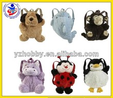Toy Plush backpack/Kids stuffed animal plush backpack toy