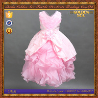 Latest Frock Designs 2015 New Fashion Long Sleeveless Pink Evening Dress For Girls 12 Years