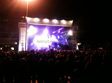 outdoor giant size P8 curved led video billboard LED animated wall LED wall