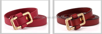 korea style casual lady woman all-match genuine leather slim waist belt for garment decoration