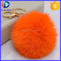 2015 Fashion Rabbit Fur Ball Cell Phone Car Keychain