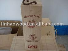 vino de madera con tapa deslizante