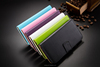 Smart Leather Book Style Flip Mobile Phone Cover Card Holder Slot Wallet Case for iPhone 6S 6S Plus for Samsung Galaxy Note 5 S6
