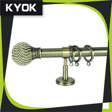 KYOK 28mm round curtain rods church decor, metal strong curtain eyelet rings, new elegant designer curtain rods