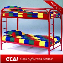 Safety high quality environmental kids double deck bed
