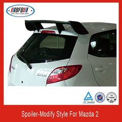 2007-2013 REAR ABS PLASTIC SPOILER WING FOR MAZDA 2 .MODIFY STYLE!!!