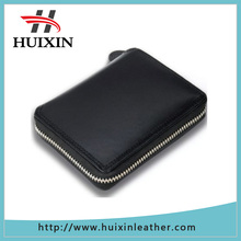 Black genuine leather pouch and bags business card case