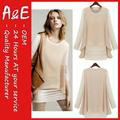 ae de moda más reciente 2014 diseños blusa cuello y las manos
