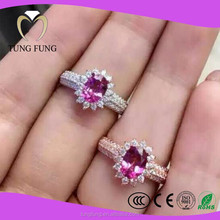 Jewelry Factory Wholesale Stylish 925 Sterling Silver Pink Topaz Rings